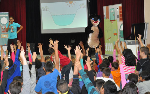 Otis the Otter at Weatherford Elementary